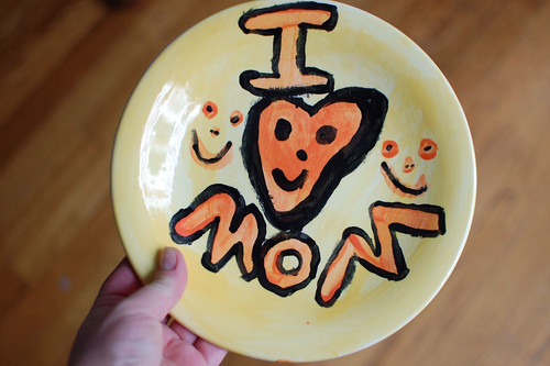 Annalie painted this plate for me