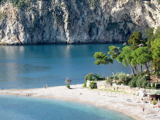Taormina - The beautiful beach of Isola Bella