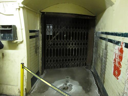 Old lift doors