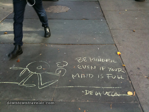 De la Vega chalk art in East Village_1