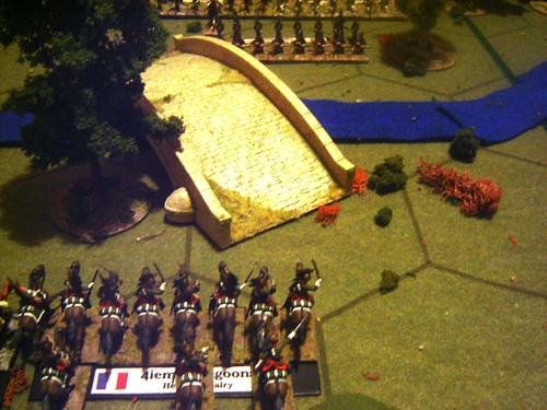 French cavalry on the left flank