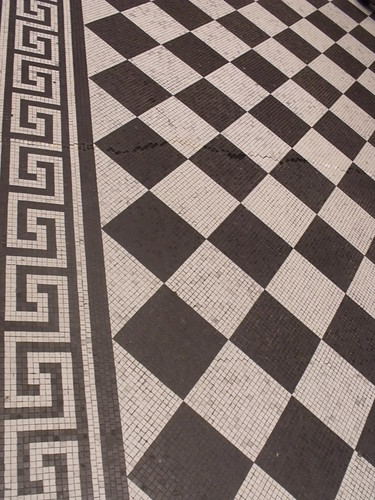 The National Gallery - Trafalgar Square, London - tiled floor