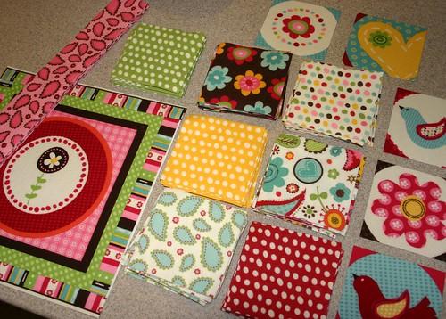 Pretty Paisley quilt pieces - c