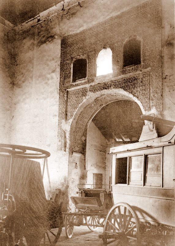 Salón de Don Diego en su etapa de cochera a comienzos del siglo XX