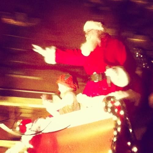 Athens Christmas Parade 2011 Santa Claus
