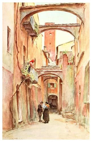 009-La calle del Speddale en Noli-An artist in the Riviera (1915)-Walter Tyndale