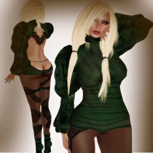 A&A Fashion Balafe Outfit green