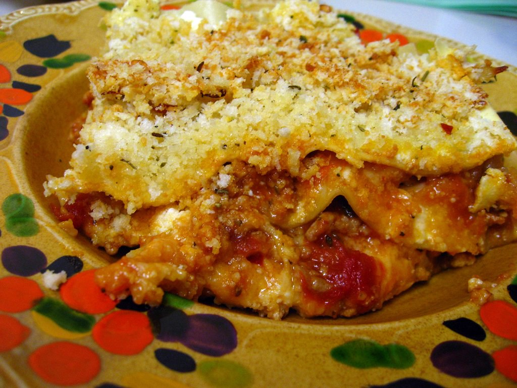 Eggplant and Veal Lasagna Parm