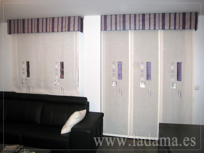 Decoraci n para salones modernos cortinas paneles for Cortinas de salon baratas