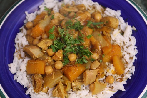 Curried Turkey with Chickpeas and Butternut Squash