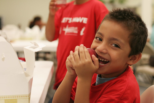 A Catholic Charities Chicago SFSP Participant enjoying a healthy lunch through the Summer Food Service Program.  (2011 SFSP contest winner photo)