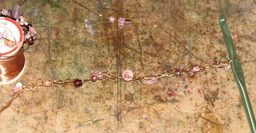 Crochet Wire Bracelet 012
