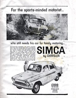 1963 Simca Aronde ad