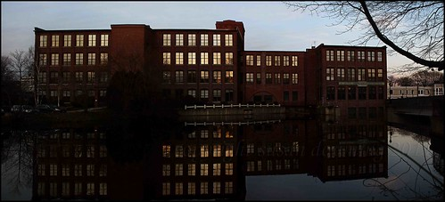 Mill by the Falls at Dusk