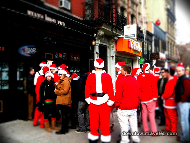 SantaCon NY 2011 East Village bar