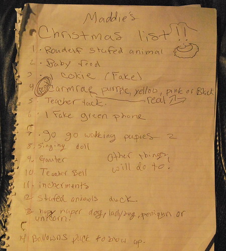 Madeline's Christmas List 2011