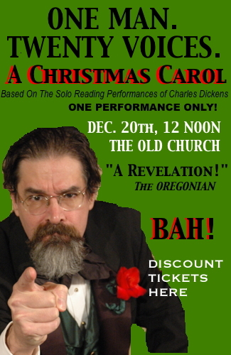 December 20: A Christmas Carol @ The Old Church | One Man, 20 Voices