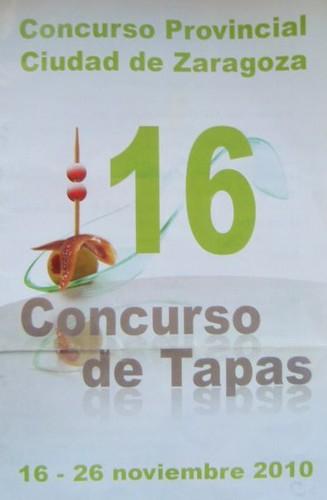 Zaragoza   XVI Concurso de Tapas   Cartel