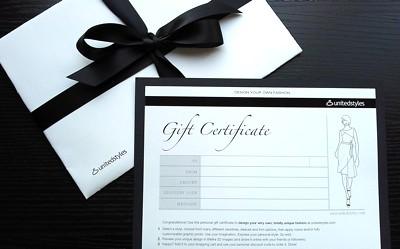 Unitedstyles gift certificate
