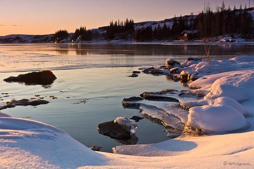 winter sunset lake snow cold ice iceland snjór vetur vatn sólarlag ís kuldi þingvallavatn hphson sonyslta55