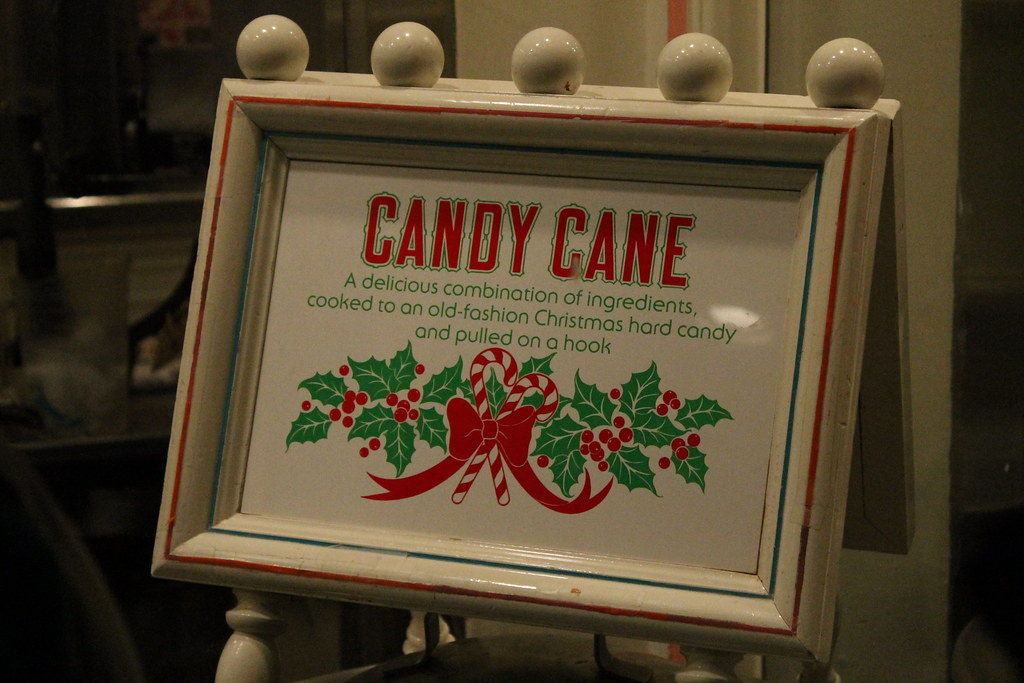 Candy Canes being made at the Candy Palace