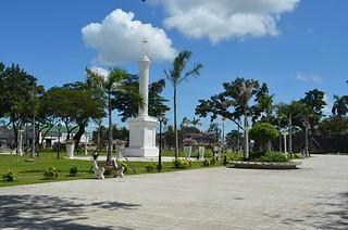 Legazpi obelisk at Plaza Independencia in Cebu City  in the Philippines