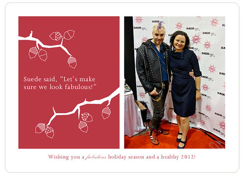 My holiday card this year, with Suede! (Project Runway Season 5 alum)