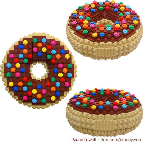 LEGO Brick Built Donut
