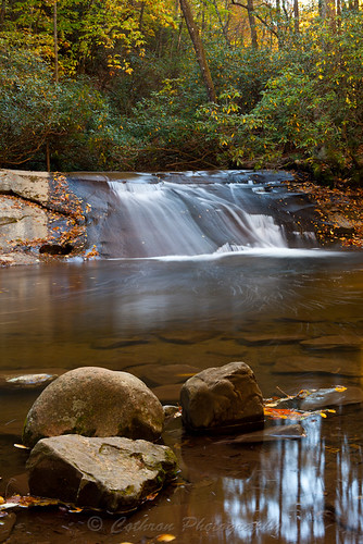 cothronphotography georgia johncothron rabuncounty wildcatcreekroad wildcatwaterslide autumn fall nature outdoor water waterfall clarkesville usa