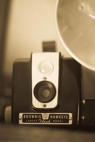Brownie Hawkeye in BW