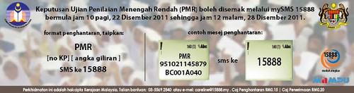 Banner Semakan Result PMR 2011