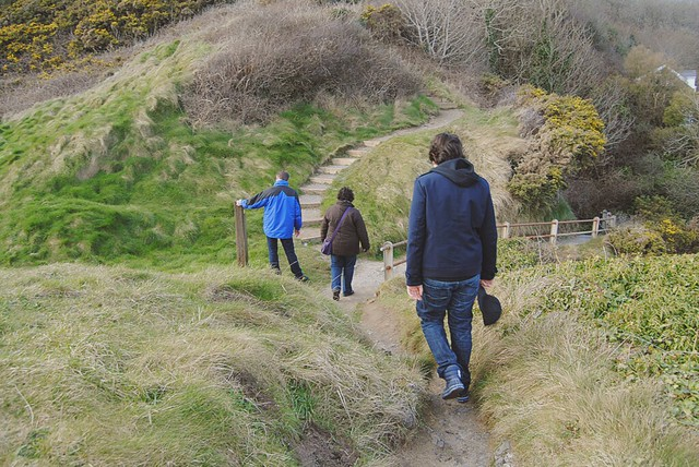 Visiting Pendine Sands in winter is a nice opportunity to enjoy the fresh air.