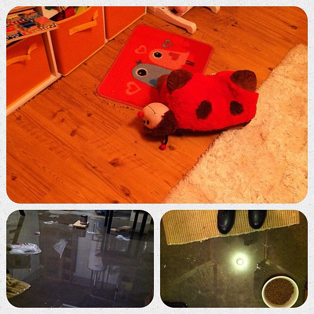 I came home to a burst pipe & a flooded basement/Alex's room. Le'sigh
