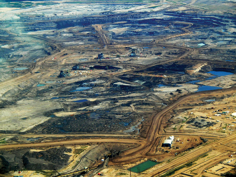 arial view of Athabasca Tar Sands