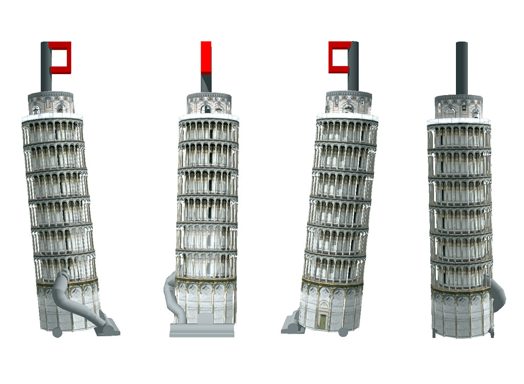 Several Views of The Leaning Tower of Pisa Vacuum Cleaner