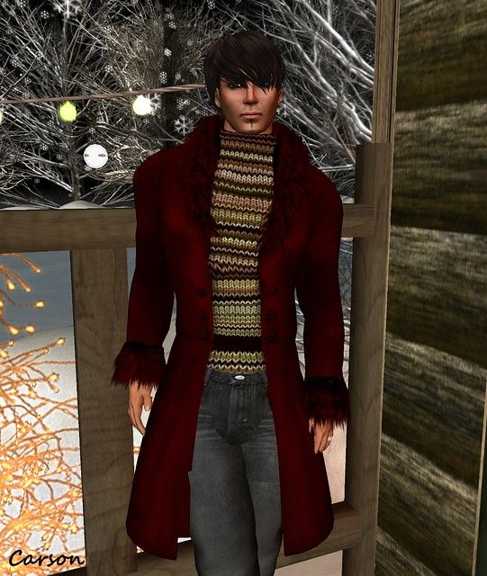 sf design - Elysium Red Coat sub-o , Be Happy! - Winter Knoit Sweater