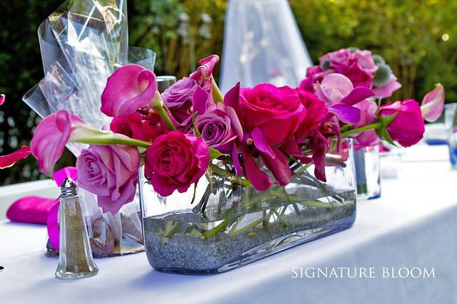 casual wedding If you want to add more floral arrangements to the table