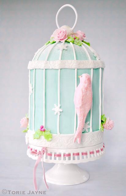 My Birdcage Christmas cake