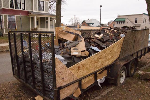 Scrap Roof Shingles Dumpster December 23 2011 3 Explore