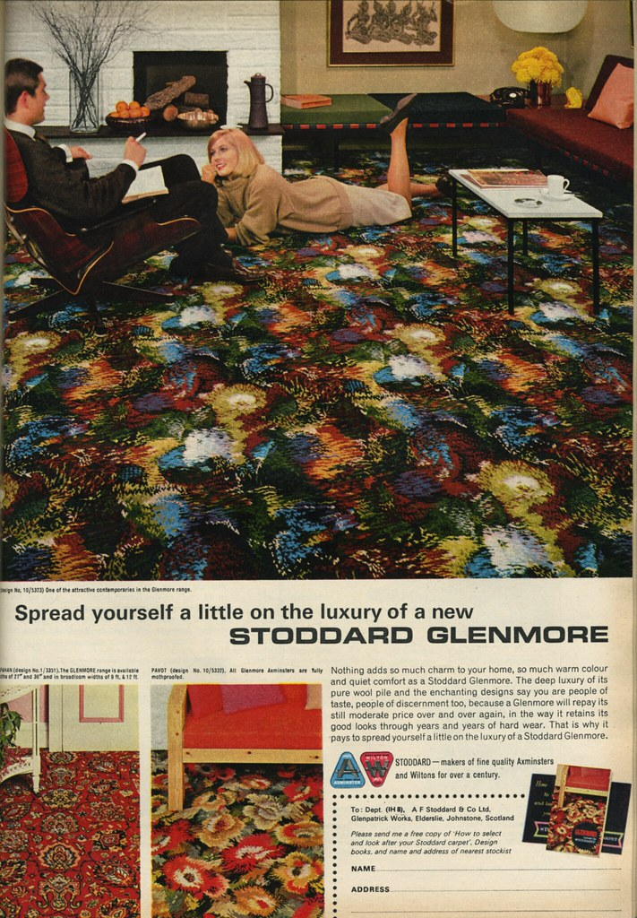 Carpet Ad from 1964 Ideal Home