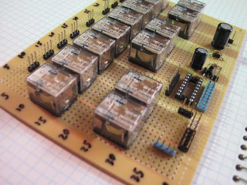 7 channel, 1 bus modular pcb audio selector project