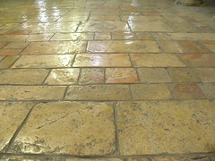 Floor stones in the Church of the Nativity