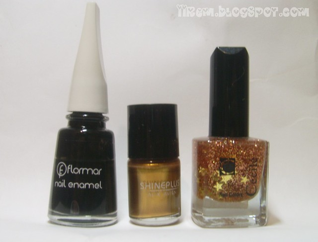 Soldan sağa = Flormar 313 , Alix Avien ShinePlus 160 , Cecile 52