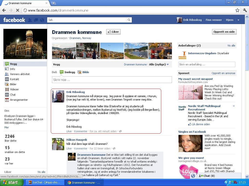 b5be80c9 Jeg klagde på Drammen kommune, på Facebook