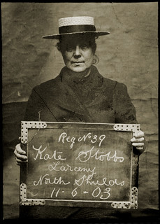 Kate Stobbs, arrested for stealing from her landlady