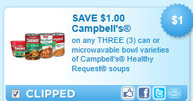 Campbells Healthy Request Soups Coupon