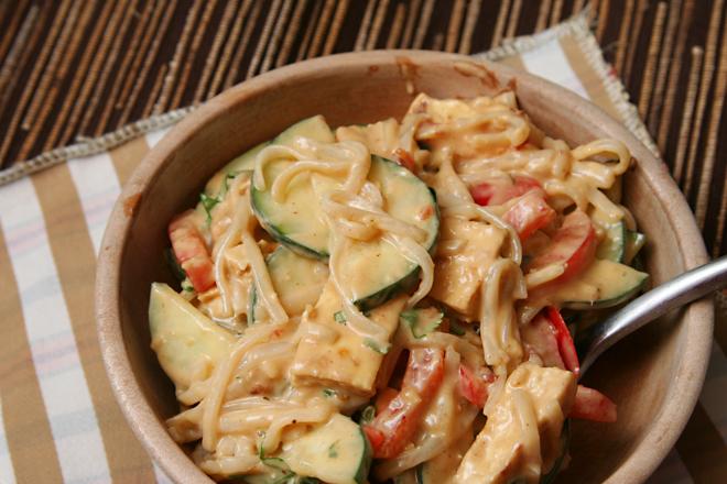 rice noodle peanut butter salad 6