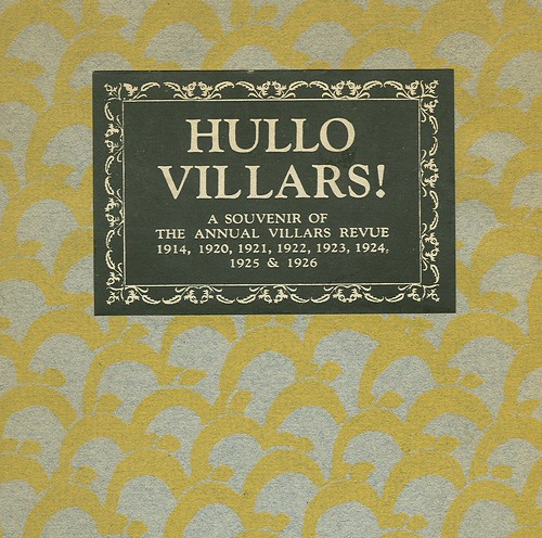 Cover of Hullo Villars! Souvenir of annual ski-ing revue, Maurice Reckitt