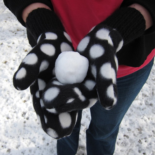 Reversible Fleece Mittens