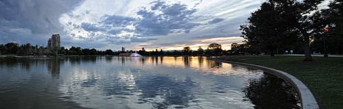 park sunset sky panorama lake water clouds reflections colorado downtown denver citypark plnd